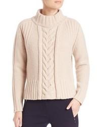 Max Mara Weekend Dingo Virgin Wool Cable Knit Sweater