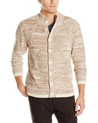 Alex Stevens Button Front Chunky Cable Cardigan