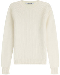 Beige Knit Crew-neck Sweater