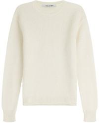 Beige Knit Crew-neck Sweater