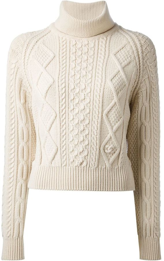 Chanel Vintage Cropped Cable Knit Sweater | Where to buy & how to wear