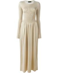 Calvin klein collection ribbed knit maxi dress medium 715250