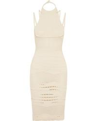 Beige Knit Midi Dress