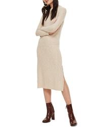 Topshop Rib Knit Midi Dress