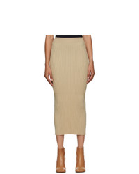 MM6 MAISON MARGIELA Beige Tight Knit Skirt