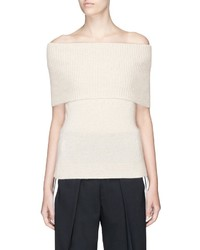 Theory Aflina Cashmere Knit Off Shoulder Top