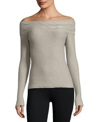 Loro Piana Kimberley Off The Shoulder Baby Cashmere Sweater
