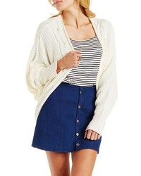 Charlotte Russe Cable Trim Cocoon Cardigan Sweater