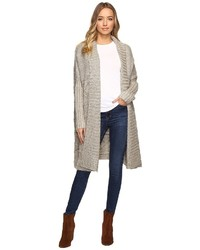 Christin Michaels Christin Michls Zienna Collared Cable Knit Long Cardigan