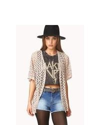 Forever 21 Boho Doll Open Knit Cardigan