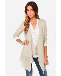 BB Dakota Howell Beige Cardigan Sweater
