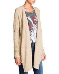 Mango Outlet Reverse Knit Waterfall Cardigan