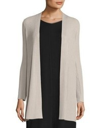 Rib knit long cardigan medium 3755957