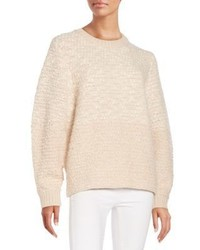 Bicolor Oversized Cocoon Sweater