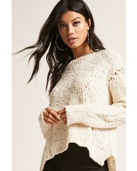 Forever 21 Open Knit Lace Up Sweater