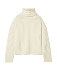 RE/DONE Oversized Ribbed Wool And Cashmere Blend Turtleneck Sweater