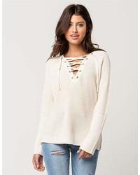 Razzle Dazzle Lace Up Sweater
