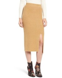 Rib Knit Sweater Skirt