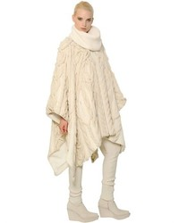 Barbara Bui Cable Knit Wool Poncho