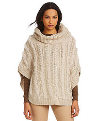 Dolce Cabo Cowlneck Rabbit Poncho