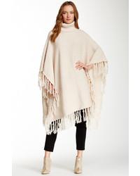Haute Hippie Rib Knit Merino Wool Poncho