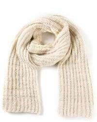 Beige Knit Scarf