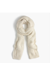 Cable scarf in italian wool blend medium 957015