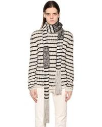 John varvatos stripe knit scarf medium 672209