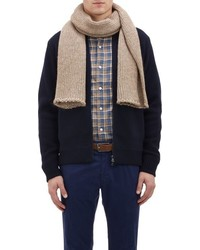 Barneys New York Knit Scarf Brown