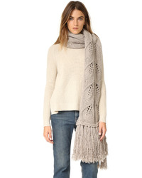 Leaf knit scarf medium 794523