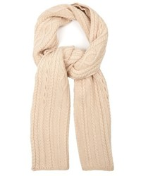 Max Mara Weekend Feroce Wool Cable Knit Scarf