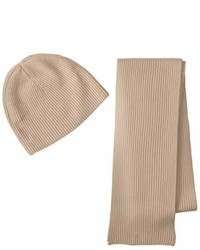 Williams Cashmere Ribbed Hat And Scarf Boxed Set