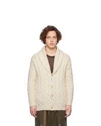 Alanui Off White Cables Cardigan