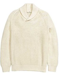 H&M Knit Sweater With Shawl Collar