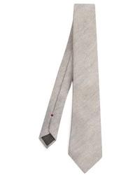 Brunello Cucinelli Diagonal Knit Wool And Silk Blend Tie