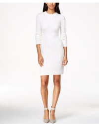 cff394957d8 ... Calvin Klein Crew Neck Cable Knit Sweater Dress ...