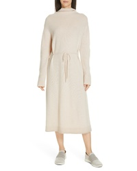 Vince Funnel Neck Wool Cashmere Sweater Dress