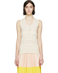 Burberry London Beige Knit Underpinning Tank Top