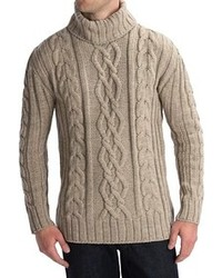 Beige Knit Turtleneck