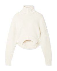Golden Goose Deluxe Brand Amber Cropped Knitted Turtleneck Sweater