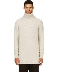 Haider Ackermann Beige Overlong Knit Turtleneck