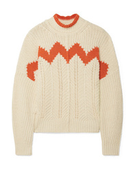 Isabel Marant Bell Ed Open Knit Cotton Blend Turtleneck Sweater