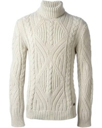 Cable knit turtle neck sweater medium 136158