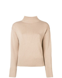 Yves Salomon High Neck Knit Sweater