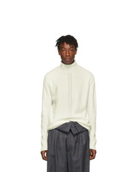 Wooyoungmi Off White Cashmere Turtleneck