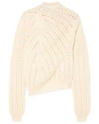 Jil Sander Open Knit Mohair And Turtleneck Sweater