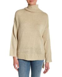 Cotton Emporium Oversized Hi Lo Turtleneck Sweater