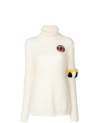Mr & Mrs Italy Roll Neck Patched Jumper