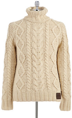Knitting Patterns For Turtleneck Sweater : Superdry Turtleneck Cable Knit Sweater Where to buy & how to wear