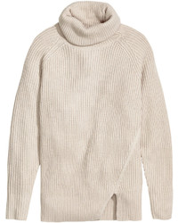 H&M Wool Blend Turtleneck Sweater Beige